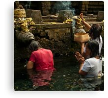 At the Temple 1 Canvas Print