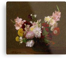 Henri Fantin-Latour - Flowers Metal Print