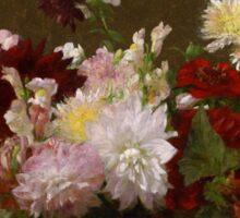 Henri Fantin-Latour - Flowers Sticker