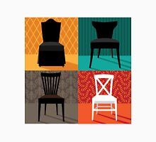 Flat design modern chairs in pop art style Unisex T-Shirt