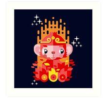 Fire Monkey Year Art Print