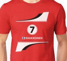 F1 2016 - #7 Raikkonen Unisex T-Shirt