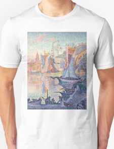Henri Fantin-Latour - Paul Signac - The Port of Saint-Tropez 1901 - 1902 ,  Seascape  Unisex T-Shirt