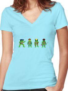 Mutant Teenage Ninja Turtles Women's Fitted V-Neck T-Shirt