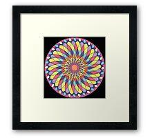 Geometric Grafic Color Cirkle  Framed Print