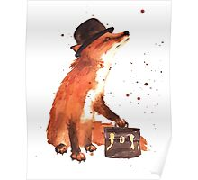 Watercolour Fox (Boss Fox) Poster