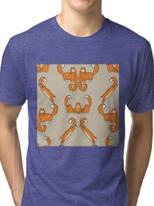 Cat damask brown  Tri-blend T-Shirt