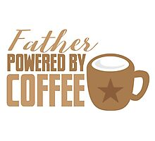 Father powered by COFFEE Photographic Print