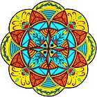 Mellow Mood Flower Mandala by Mala-Tichan