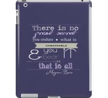 Quote Magnus Bane iPad Case/Skin