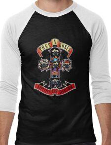 PUGS N' ROSES : APPETITE FOR EVERYTHING Men's Baseball ¾ T-Shirt