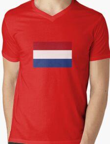 Netherlands Flag Mens V-Neck T-Shirt