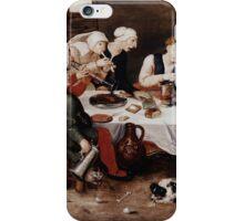 Hieronymus Bosch - The Bacchus Singers 1580 . Portrait . Fashion  iPhone Case/Skin