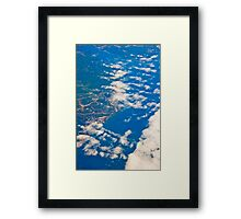 the view from the plane Framed Print