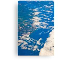 the view from the plane Canvas Print