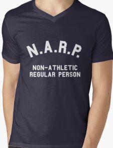 NARP Non-Athletic Regular Person Mens V-Neck T-Shirt