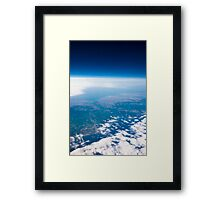 Istanbul from the space Framed Print