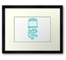 Love Cake Framed Print