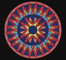 Geometric Grafic Color Cirkle Aztec  Kids Tee