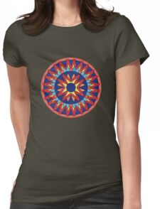 Geometric Grafic Color Cirkle Aztec  Womens Fitted T-Shirt