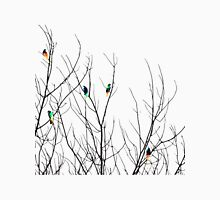 Artistic Bright Birds on Tree Branches Unisex T-Shirt