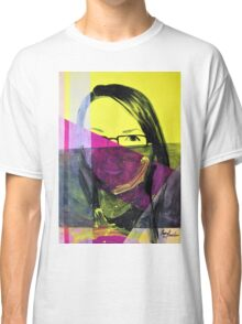 Portrait of girl in colors, 2011, 50-70cm, acryl on canvas Classic T-Shirt