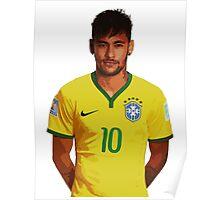 Neymar - Brazil 2014 Poster