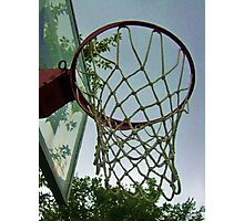 lets shoot some hoops Photographic Print