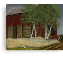 """Old Man Walker's Barn""... prints and products Canvas Print"