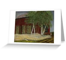 """""""Old Man Walker's Barn""""... prints and products Greeting Card"""