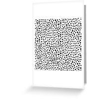 Modern Black and White Hand Drawn Polka Dots Greeting Card