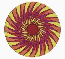 Geometric Grafic Color Cirkle Sun One Piece - Short Sleeve