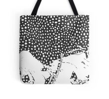 Modern Artistic Abstract Snow Scene Tote Bag