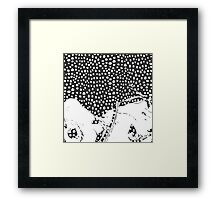 Modern Artistic Abstract Snow Scene Framed Print