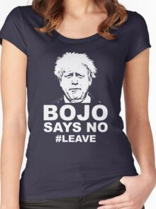 Bo Jo says no ukip Women's Fitted Scoop T-Shirt