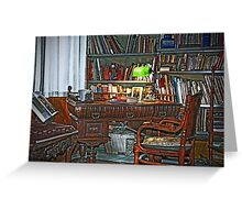 Still life interiors, Fabio's desk Greeting Card