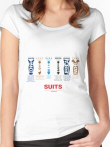 SUITS | DIALOGUE - SUITS FAMILY Women's Fitted Scoop T-Shirt