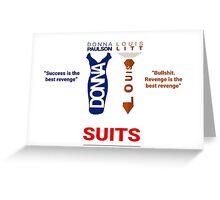 SUITS | DIALOGUE - DONNA-LOUIS Greeting Card