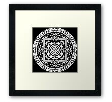 Circular beautiful pattern of traditional motifs Framed Print