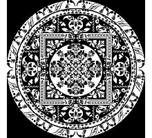 Circular beautiful pattern of traditional motifs Photographic Print