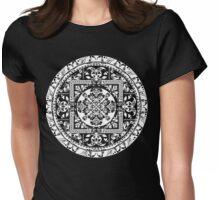Circular beautiful pattern of traditional motifs Womens Fitted T-Shirt