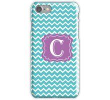 C Turquoise Chevron iPhone Case/Skin