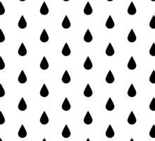Rain Drop in Black Sticker