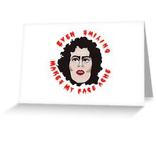 Frank n Furter Rocky Horror Picture Show Greeting Card
