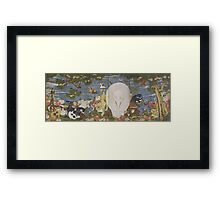 ITO Jakuchu - Animals in the Flower garden . Japanese Landscape . Elephant Framed Print