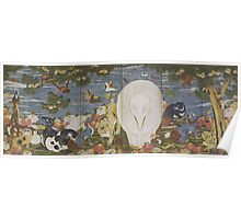 ITO Jakuchu - Animals in the Flower garden Right-hand screen late 18th century Poster
