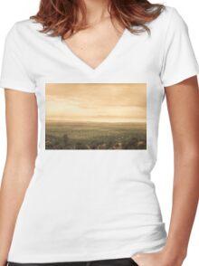 Arizona Dust Storm Women's Fitted V-Neck T-Shirt