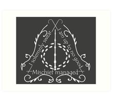 Solemnly Swear - Light Art Print