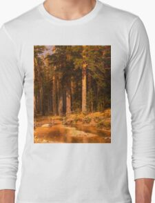 Ivan Shishkin - Mast-Tree grove 1887 . Landscape  Long Sleeve T-Shirt
