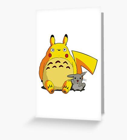Totorotchu and Pikaro Greeting Card